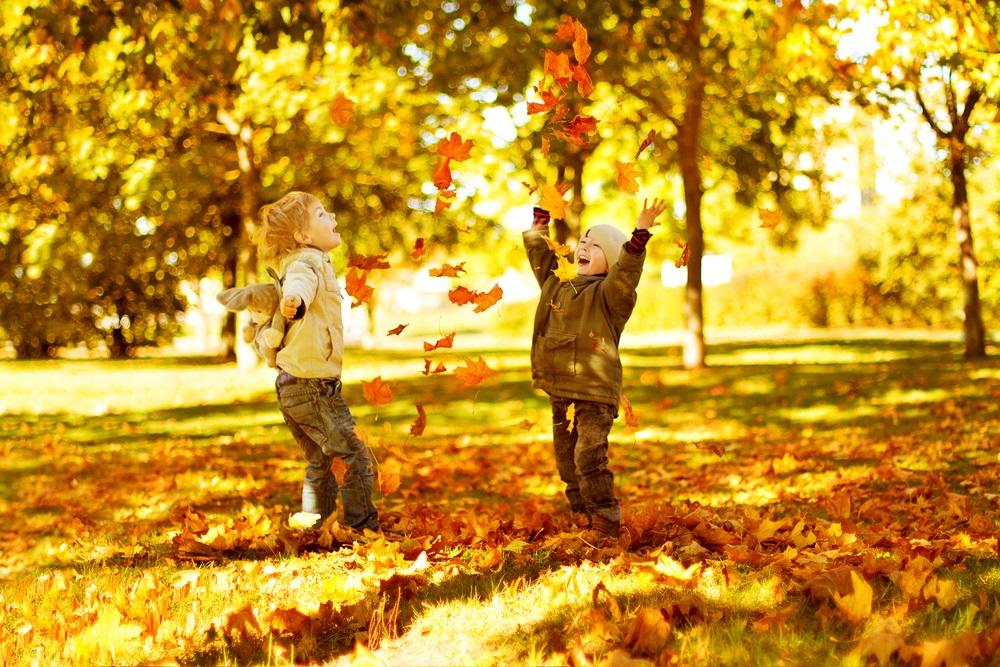 Lekker door de bladeren banjeren